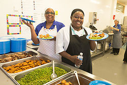 Kitchen at The Broadwaters Inclusive Learning Community, Tottenham, London Borough of Haringey July 2014. This is a collaboration between two local schools, The Willow Primary School & The Brook Primary Special School. UK
