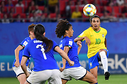 June 18, 2019 - Valenciennes, Haut de france, France - Vieira Da Silva Marta (BRA) during the match between Italy vs Brasil at the FIFA Women's World Cup France at Stade du Hainaut on June 18, 2019 in Valenciennes, France. (Credit Image: © Julien Mattia/NurPhoto via ZUMA Press)
