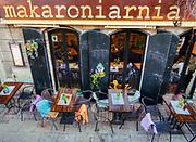 """""""Makaroniarnia"""" restauracja  w Krakowie, mieszcząca się przy ulic Brodzińskiego."""