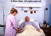 Medical Assistant, Nurse at Work, Pulse Taking, Hospital Bed