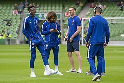 August 2, 2018 - Dublin, Ireland - Chelsea players inspect the pitch during the International Champions Cup match between Arsenal FC and Chelsea FC at Aviva Stadium in Dublin, Ireland on August 1, 2018  (Credit Image: © Andrew Surma/NurPhoto via ZUMA Press)