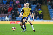 Milan Djuric of Bristol City passes the ball. The Emirates FA cup 4th round match, Burnley v Bristol City at Turf Moor in Burnley, Lancs on Saturday 28th January 2017.<br /> pic by Chris Stading, Andrew Orchard Sports Photography.
