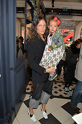 LULU KENNEDY and her daughter RAINBOW at the launch of the House of Hackney La Coqueta childrens' fashion collectection held at House of Hackney, 131 Shoreditch High Street, London on 23rd April 2016.