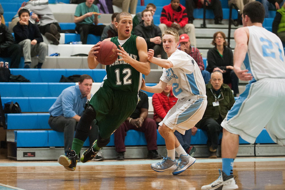 The Vermont high school boys basketball game between the St. Johnsbury Hilltoppers and the South Burlington Rebels at South Burlington high school on Tuesday night February 3, 2015 in South Burlington, Vermont.