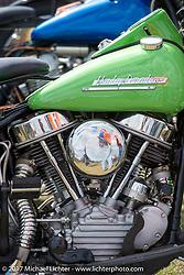 Harley-Davidson Panhead detail taken at the AMCA (Antique Motorcycle Club of America) Sunshine Chapter National Meet in New Smyrna Beach during Daytona Beach Bike Week. FL. USA. Saturday March 11, 2017. Photography ©2017 Michael Lichter.