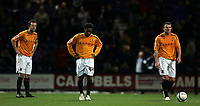 Photo: Paul Thomas/Sportsbeat Images.<br /> Preston North End v Hull City. Coca Cola Championship. 04/12/2007.<br /> <br /> Hull's (R-L) Dean Windass, Jay Jay Okocha and Ian Ashbee show thier dejection after Preston score their third goal.