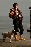 Photo: Alex MacNaughton. © 22/05/05. TES News Welsh.<br /> Helmsman Aileen Jones of the Porthcawl Life Boat who was awarded an R.N.L.I. bronze medal for a rescue she took part in on 24th August 2004.<br /> <br /> Aileen work as nursery nurse.<br /> <br /> PHOTOS FROM<br /> ALEX MACNAUGHTON ©<br /> 22C HIGHGATE WEST HILL<br /> LONDON<br /> N6 6NP<br /> 07774 839 660<br /> alex.macnaughton@virgin.net<br /> Vat No. 722 764 531