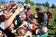 January 29 2016: Team Irvin Richard Sherman signs autographs after todays Pro Bowl practice at Turtle Bay Resort on Oahu, HI. (Photo by Aric Becker/Icon Sportswire)