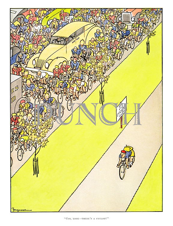 """""""Coo, look— there's a cyclist!"""""""