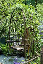Living willow arbour. The Cumbrian Fellside Garden. Design: Kim Wilde and Richard Lucas - Chelsea 2005