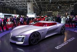 Renault Trezor concept vehicle at 87th Geneva International Motor Show in Geneva Switzerland 2017