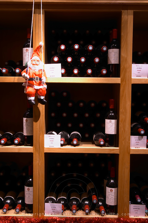 Domaine Gerard Bertrand, Chateau l'Hospitalet. La Clape. Languedoc. The wine shop and tasting room. France. Europe. Bottle.
