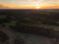 Mist blankets fields near Burnham, Buckinghamshire as a new day breaks with warmer weather predicted by the Met Office.. Burnham, Buckinghamshire, October 09 2018.