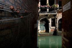 Venice (Italy) 2007 - Canal of Venice. Calle dei Filosi.