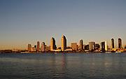 USA, California, San Diego Downtown at sunset