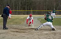 St Paul's School varsity Baseball with New Hampton.  ©2018 Karen Bobotas Photographer