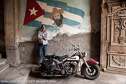 Jose and his Flathead. Havana, Cuba. 2009<br /> <br /> Limited Edition Print from an edition of 20. Photo ©2009 Michael Lichter.