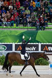Jeanna Högberg, (SWE), Darcia - Grand Prix Team Competition Dressage - Alltech FEI World Equestrian Games™ 2014 - Normandy, France.<br /> © Hippo Foto Team - Leanjo de Koster<br /> 25/06/14