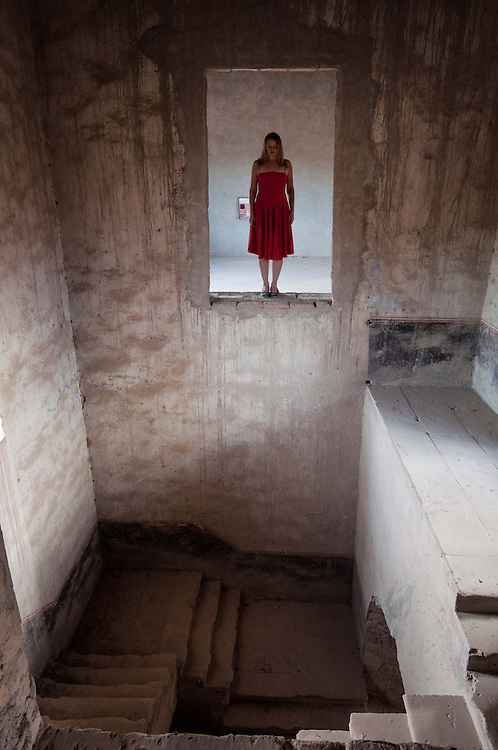 Long exposure self-portrait images of photographer  Janelle Pietrzak aka Explored Exposure taken in Guanajuato, Mexico at the abandoned Ex-Hacienda Jaral de Berrios.