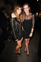 Left to right, CARINTHIA PEARSON and LADY TATIANA MOUNTBATTEN at the Tatler Little Black Book Party held at Tramp, 40 Jermyn Street, London on 3rd November 2010.