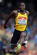 Michael Puplampu competing in the Men's Triple Jump Final.The British Championships 2016, athletics event at the Alexander Stadium in Birmingham, Midlands  on Saturday 25th June 2016.<br /> pic by John Patrick Fletcher, Andrew Orchard sports photography.