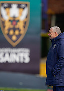 Northampton Saints Director of Rugby Chris Boyd before a Gallagher Premiership Round 13 Rugby Union match, Saturday, Mar. 13, 2021, in Northampton, United Kingdom. (Steve Flynn/Image of Sport)
