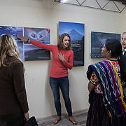 Opening of exhibit, Viviendo con Volcanes, at INGUAT.