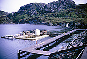 Fisheries marine research laboratory, Ardtoe, Acharacle, Scotland photograph dated 1971