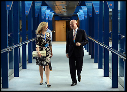 Image ©Licensed to i-Images Picture Agency. 28/09/2014. Birmingham, United Kingdom. Leader of the House of Commons William Hague and his Ffion after his last speech to the  Conservative Party Conference.Picture by Andrew Parsons / i-Images