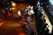 The crowd rushes in to see the Red Hot Chili Peppers perform at Irving Plaza in Manhattan, NY. They have released a new album. 5/8/2006 Photo by Jennifer S. Altman