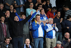 Bristol Rovers fans - Photo mandatory by-line: Dougie Allward/JMP - Mobile: 07966 386802 26/04/2014 - SPORT - FOOTBALL - High Wycombe - Adams Park - Wycombe Wanderers v Bristol Rovers - Sky Bet League Two