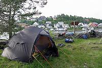 Camping at Frisøya outside Arendal