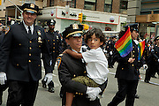 Members of the New York Police Department Gay Officers' League, marching in the 2011 Pride Parade on New York's Fifth Avenue.