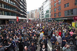 © Licensed to London News Pictures.20/03/2021. London,UK. Anti-Lockdown protesters march through Oxford Street, central London during the World Wide Rally for Freedom demo. Photo credit: Marcin Nowak/LNP