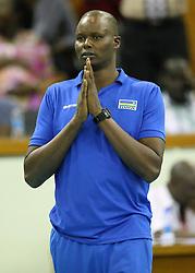 Rwandese Head Coach Paul Bitok instructs his charges against Botswana during their U23 Africa Nations Championship at Safaricom Stadium Stadium in Nairobi on October 26, 2016. Rwanda won 3-0. Photo/Fredrick Onyango/www.pic-centre.com (KEN)