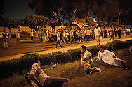 Pro-Morsi rallys head towards the Rabaa al Adawyia Mosue, the centre-point for pro government supporters in Cairo.