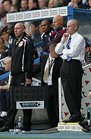 Photo: Lee Earle.<br /> Reading v West Ham United. The FA Barclays Premiership. 01/09/2007.Reading manager Steve Coppell (R) watches on as they trail to West Ham.