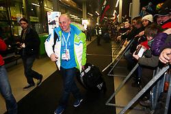 Goran Janus at reception of Slovenia team arrived from Winter Olympic Games Sochi 2014 on February 19, 2014 at Airport Joze Pucnik, Brnik, Slovenia. Photo by Vid Ponikvar / Sportida