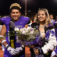 Vincent Figueroa and Ashley Fernandez named Miyamura High School Homecoming King and Queen during halftime at the Miyamura Patriots and Gallup Bengals football game, Friday Oct. 12, 2018 in Gallup.