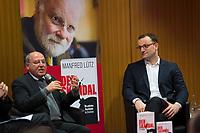 DEU, Deutschland, Germany, Berlin,28.02.2018: Dr. Gregor Gysi und Jens Spahn bei der Buchvorstellung: Taugt das Christentum noch als geistiges Fundament Europas? Der Skandal der Skandale.