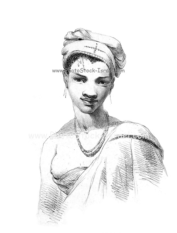 """Kaffer (Also Caffer or Kaffir) is an ethnic slur used to refer to black Africans in South Africa. In the form of cafri, it evolved during the pre-colonial period as an equivalent of """"negro"""". In Southern Africa, the term was later used to refer to the Bantu peoples. This designation came to be considered a pejorative by the mid-20th century, and it is regarded as extremely offensive. woman from the book Sketches representing the native tribes, animals, and scenery of southern Africa : from drawings made by the late Mr. Samuel Daniell. by Daniell, Samuel, 1775-1811; Daniell, William, 1769-1837; Barrow, John, Sir, 1764-1848; Somerville, William, 1771-1860; Printed by Richard and Arthur Taylor : Published by William Daniell, and William Wood, London, 1820"""