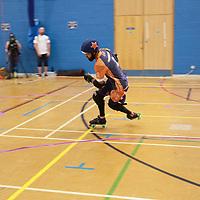 Mild Discomfort face Glasgow Mens Roller Derby for Bronze in the Tier 1 MRDA British Champs Playoffs 2019 at Fenton Manor Sports Complex, Stoke-on-Trent, 2019-09-22