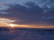 Sunset over the Snake River Plain east of Fairfield, Idaho.