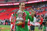 Five times FA Cup winner Arsenal goalkeeper Petr Čech(33) during the The FA Cup final match between Arsenal and Chelsea at Wembley Stadium, London, England on 27 May 2017. Photo by Shane Healey.