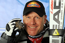 12-02-2011 SKIEN: FIS ALPINE WORLD CHAMPIONSSHIP: GARMISCH PARTENKIRCHEN<br /> silver medal Didier Cuche (SUI) during men's Downhill<br /> **NETHERLANDS ONLY**<br /> ©2011-WWW.FOTOHOOGENDOORN.NL/EXPA/ E Spiess