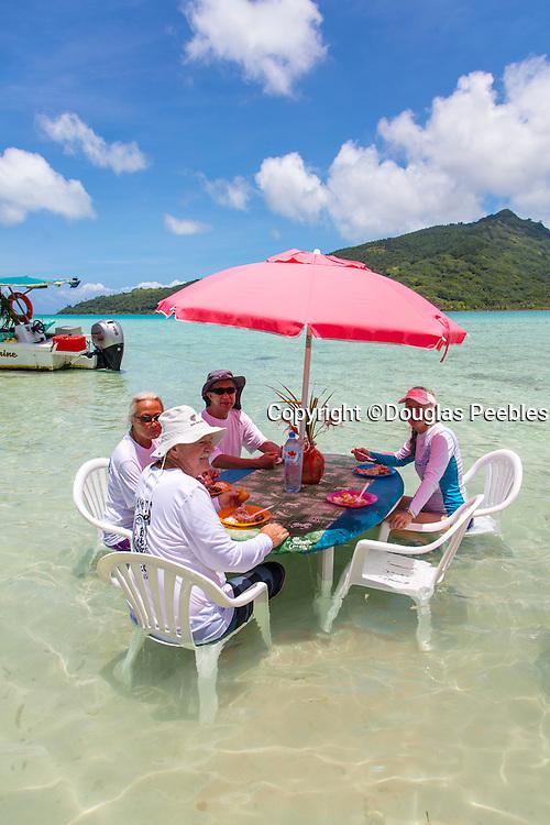 Snorkeling and lunch on Motu Marimaora, Huahine, French Polynesia