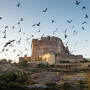 Exterior of Mahrangarth Fort, Jodhpur at sunrise