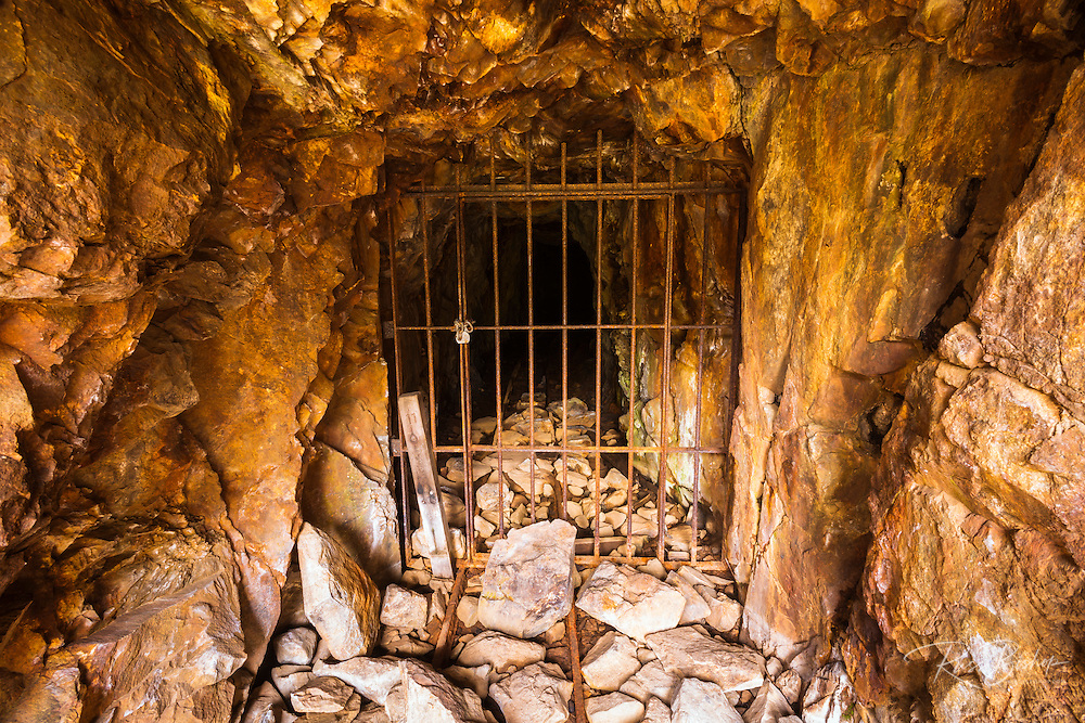 Mine shaft entrance at the Mammoth Consolidated Gold Mine, Inyo National Forest, Mammoth Lakes, California USA