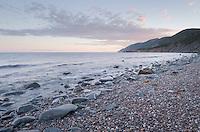 Cobblestone beach, Cape Breton Highlands National Park, Cape Breton Island Nova Scotia