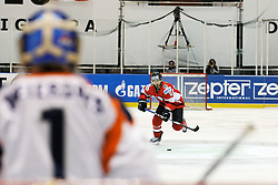 24.04.2010, Eishalle, IJssportcentrum, Tilburg, NED, IIHF Division I WM, Gruppe A, Österreich vs Niederlande im Bild Thomas Koch skates up to take a penalty-shot, EXPA Pictures © 2010, PhotoCredit/ EXPA/ Fintan Planting / SPORTIDA PHOTO AGENCY